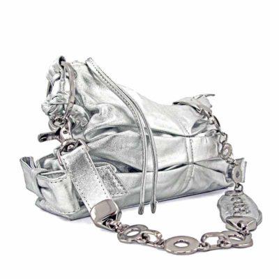 Сумка из натуральной кожи для женщин Ohh! Ashley серебро