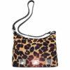 сумка женская из натуральной шерсти и кожи Ohh! Ashley леопард