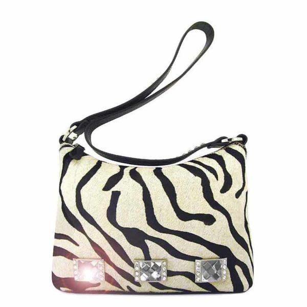 сумка женская из натуральной шерсти и кожи Ohh! Ashley зебра