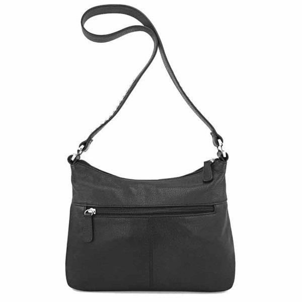 сумка женская из натуральной шерсти и кожи Ohh! Ashley черно-белая