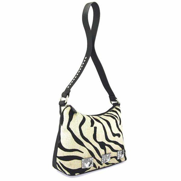 сумка для женщин из натуральной шерсти и кожи Ohh! Ashley волнистая