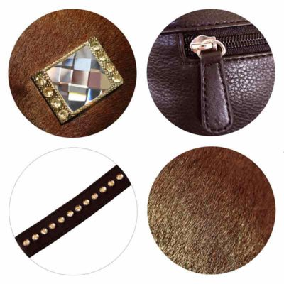 сумка женская из натуральной шерсти и кожи Ohh! Ashley элементы