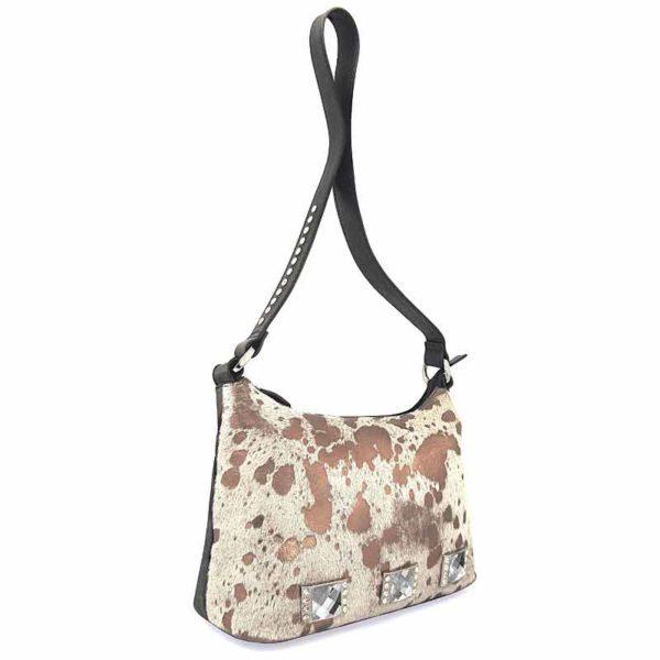 сумка женская из натуральной шерсти и кожи Ohh! Ashley пятнистая