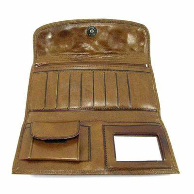 Кошелек кожаный для женщин Companero светло-коричневый
