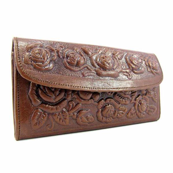 Кошелек кожаный для женщин Companero коричневый