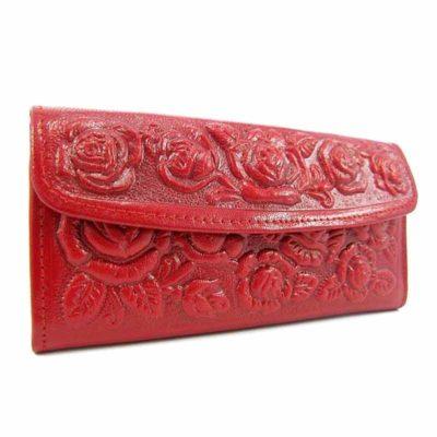 Кошелек кожаный для женщин Companero красный
