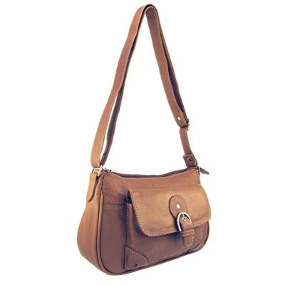 сумка женская из натуральной кожи светло-коричневая