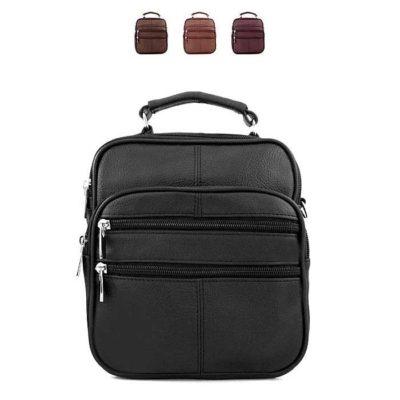 барсетка сумка кожаная для мужчин черная