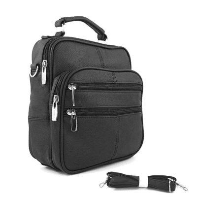 барсетка сумка оригинальная кожаная для мужчин черная