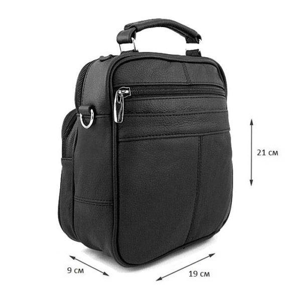 барсетка сумочка из натуральной кожи для мужчин черная