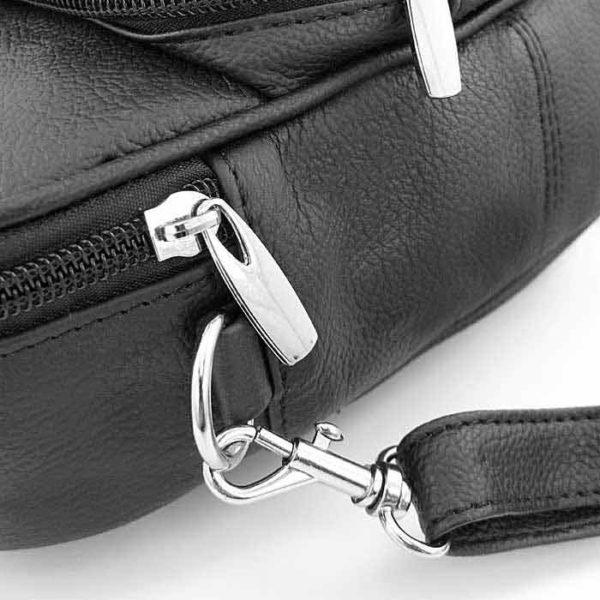 барсетка сумка из натуральной кожи для мужчин черная