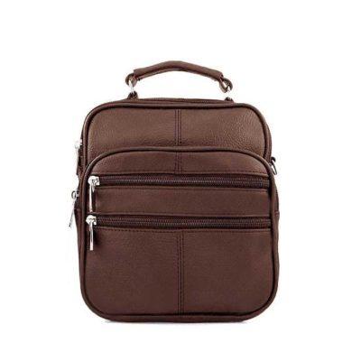 барсетка сумка кожаная для мужчин коричневая