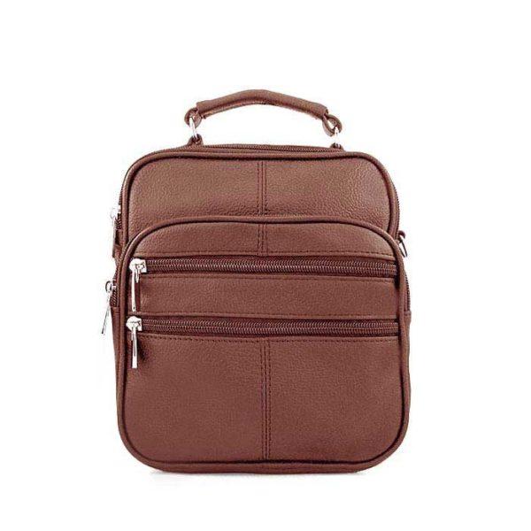 барсетка сумка кожаная для мужчин светло-коричневая
