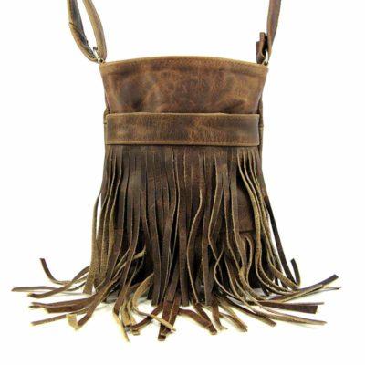 Сумка кожаная для женщин Companero коричневая вестерн