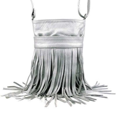 Сумка кожаная для женщин Companero серебро