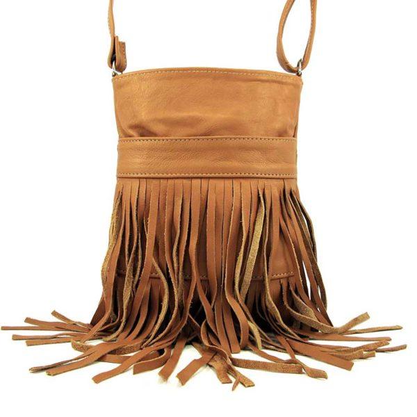 Сумка кожаная для женщин Companero светло-коричневая